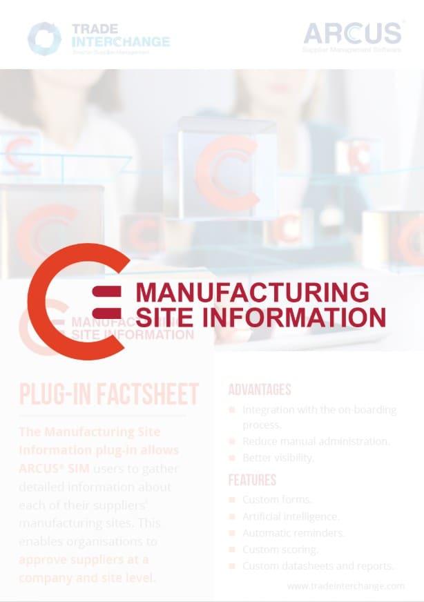 Manufacturing Site Information Factsheet